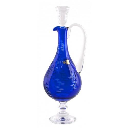 Krištáľová karafa Silentio, farba modrá, objem 1500 ml