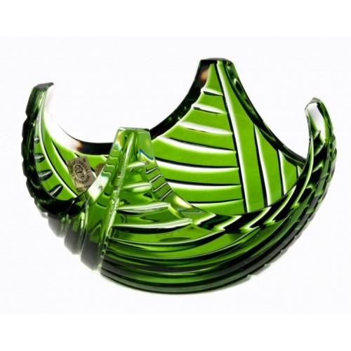 Krištáľová miska Linum, farba zelená, priemer 140 mm