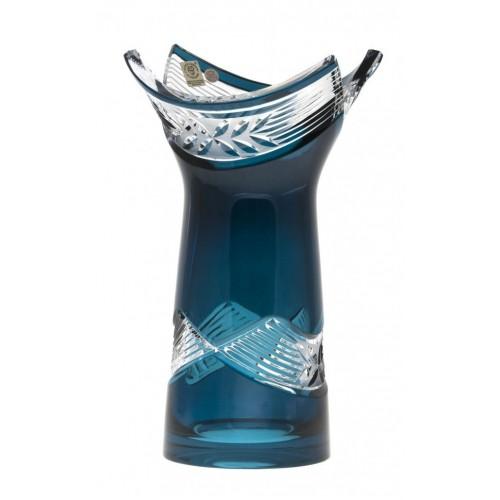 Krištáľová váza Laurel, farba azúrová, výška 255 mm