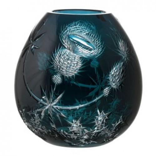 Krištáľová váza Thistle, farba azúrová, výška 280 mm