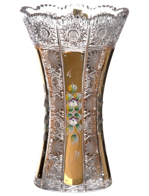 Krištáľová váza 500K Zlato, farba číry krištáľ, výška 280 mm