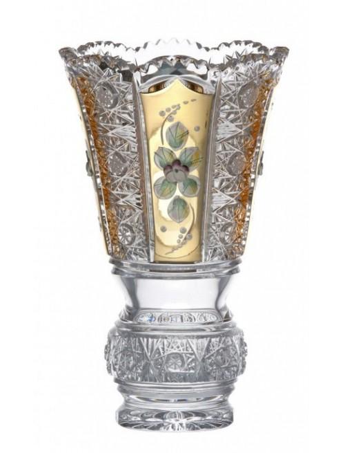 Krištáľová váza 500 K Gold, farba číry krištáľ, výška 205 mm