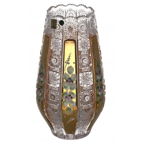 Krištáľová váza 500K Zlato, farba číry krištáľ, výška 255 mm