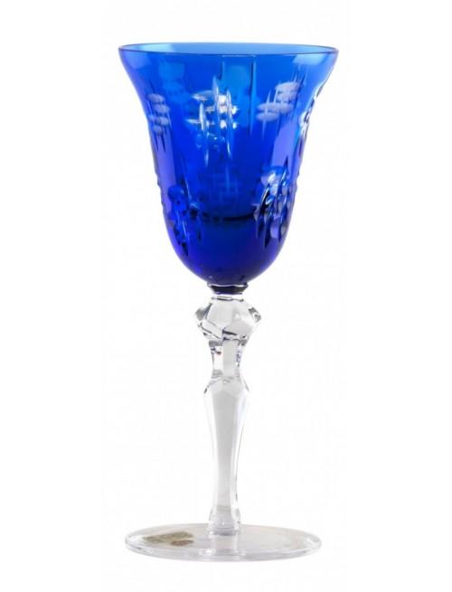 Krištáľový pohár na víno Silentio, farba modrá, objem 180 ml