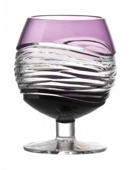 Krištáľový pohár Brandy Poem, farba fialová, objem 230 ml