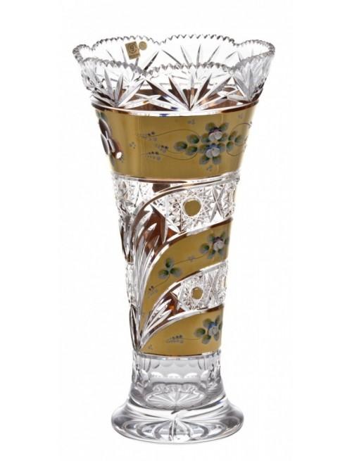 Krištáľová váza Zlato, farba číry krištáľ, výška 410 mm