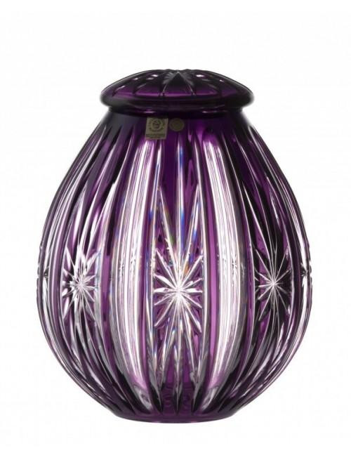 Krištáľová urna Spark, farba fialová, výška 230 mm