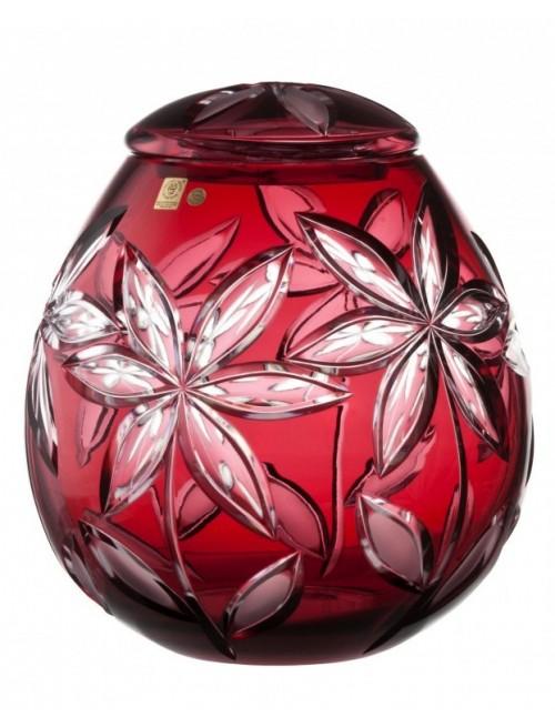 Krištáľová urna Linda, farba rubínová, výška 290 mm