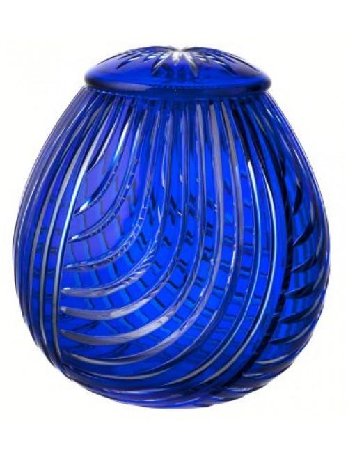 Krištáľová urna Linum, farba modrá, výška 290 mm