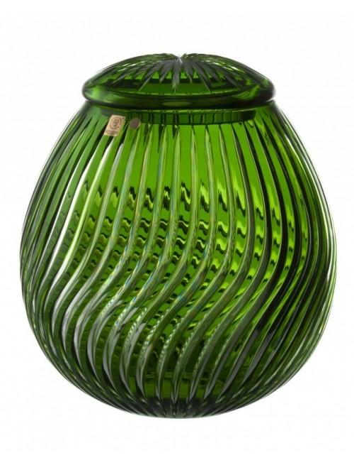 Krištáľová urna Zita, farba zelená, výška 290 mm
