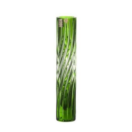 Krištáľová váza Zita, farba zelená, výška 230 mm