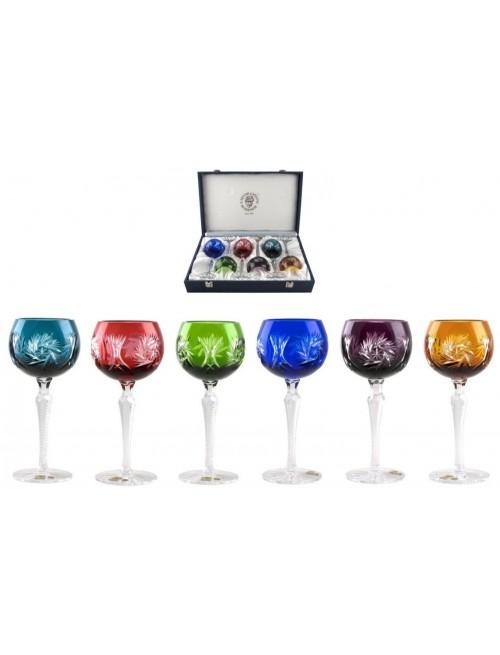 Krištáľový set pohár na víno Pinwheel 190 LUX, farba mix farieb, objem 190 ml