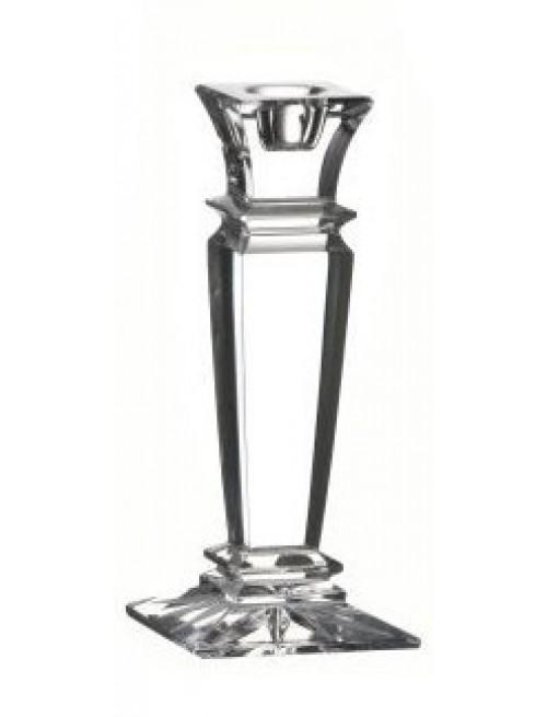 Krištáľový svietnik Wist, farba číry krištáľ, výška 150 mm