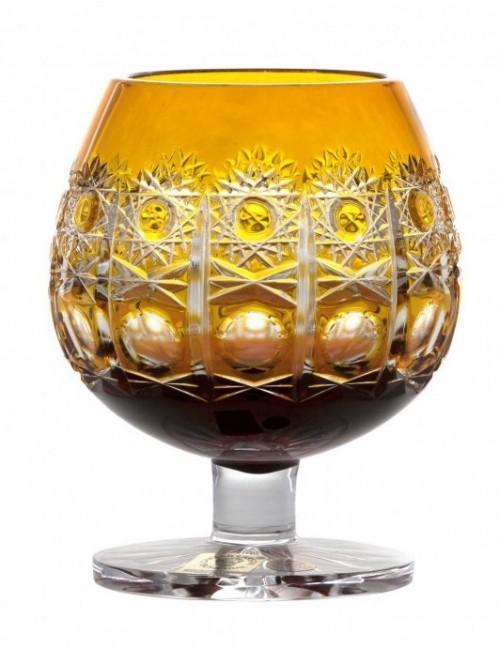 Krištáľový pohár Brandy Petra, farba amber, objem 230 ml