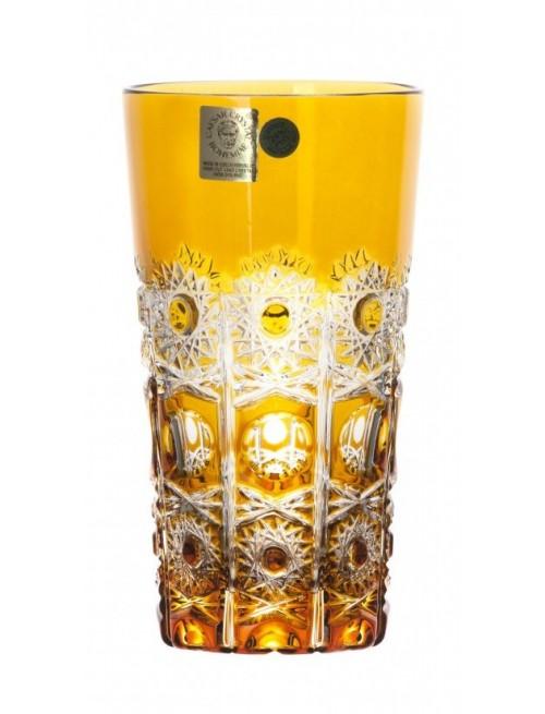 Krištáľový pohár Petra, farba amber, objem 320 ml