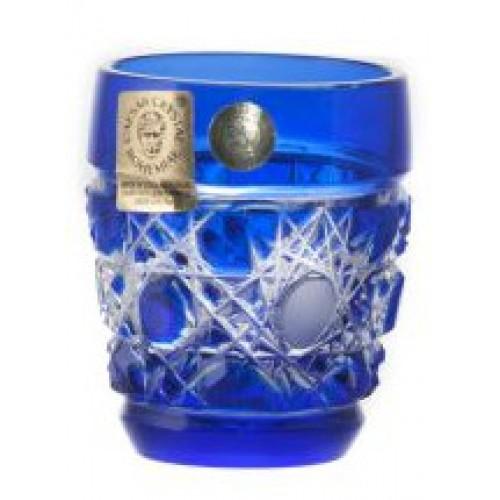 Krištáľový pohárik Flake, farba modrá, objem 50 ml