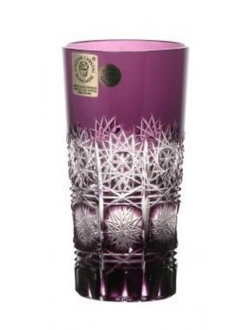 Krištáľový pohár Paula, farba fialová, objem 100 ml