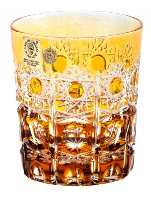 Krištáľový pohár Petra, farba jantárová, objem 290 ml