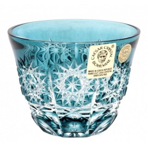 Krištáľový pohárik Paula, farba azúrová, objem 65 ml