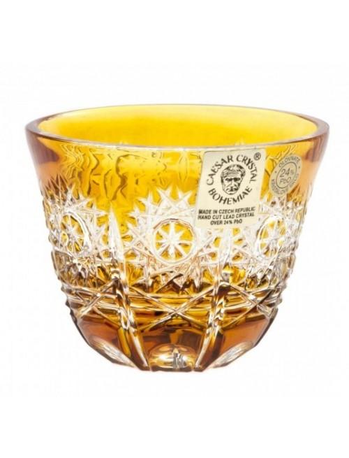 Krištáľový pohárik Paula, farba amber, objem 65 ml