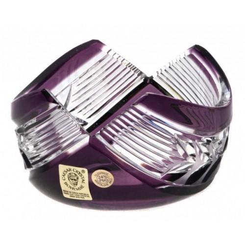 Krištáľová miska Laurel, farba fialová, priemer 100 mm