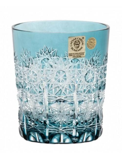 Krištáľový pohár Paula, farba azúrová, objem 290 ml