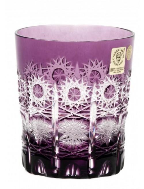 Krištáľový pohár Paula, farba fialová, objem 290 ml