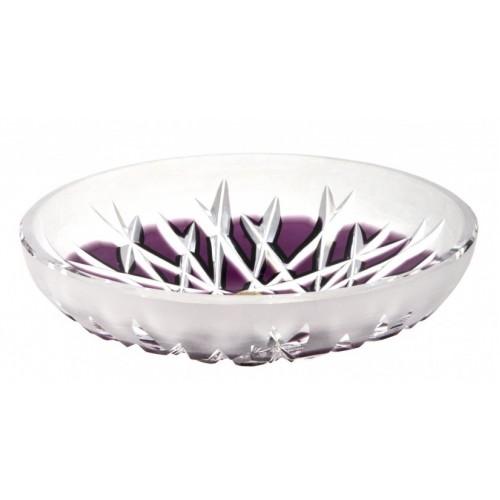 Krištáľový tanier Hoarfrost, farba fialová, priemer 145 mm
