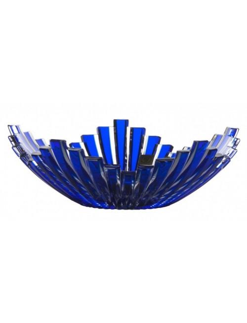 Krištáľová misa Mikado, farba modrá, priemer 230 mm