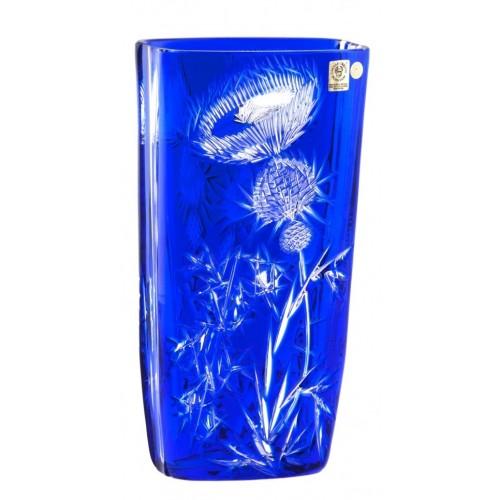 Krištáľová váza Thistle, farba modrá, výška 255 mm