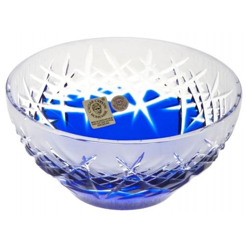 Krištáľová miska Hoarfrost, farba modrá, priemer 130 mm