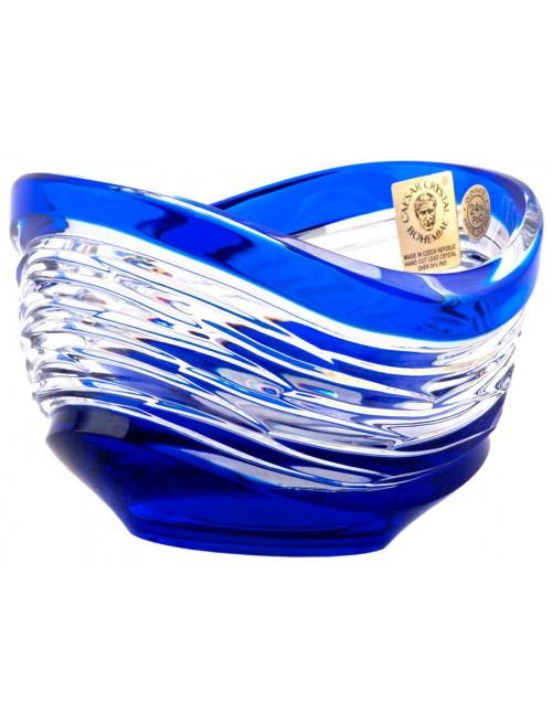 Krištáľová miska Poem, farba modrá, priemer 95 mm