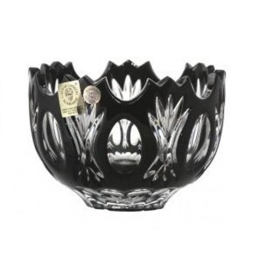 Krištáľová miska Dandelion, farba čierna, priemer 110 mm