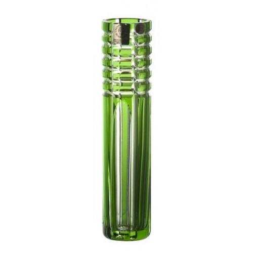 Krištáľová váza Nora, farba zelená, výška 180 mm