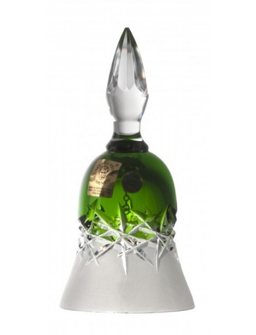 Krištáľový zvonček Hoarfrost, farba zelená, výška 126 mm