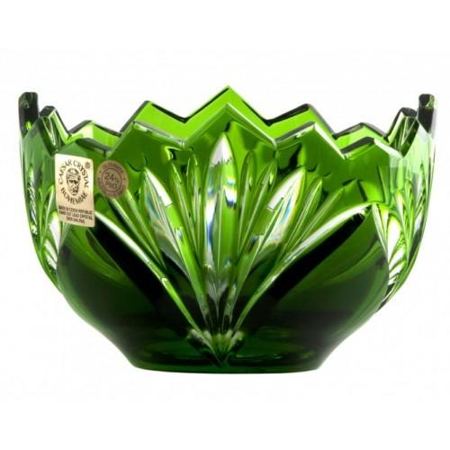 Krištáľová miska Jonathan, farba zelená, priemer 110 mm