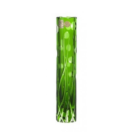 Krištáľová váza Heyday, farba zelená, výška 230 mm