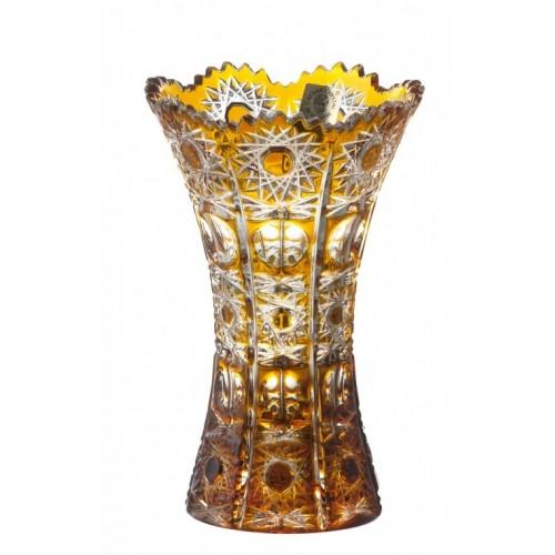 Krištáľová váza Petra, farba amber, výška 155 mm