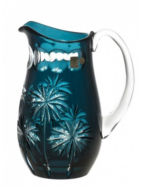 Krištáľový džbán Palm, farba azúrová, objem 1600 ml
