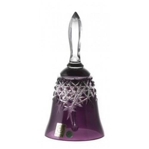 Krištáľový zvonček New Milenium, farba fialová, výška 165 mm