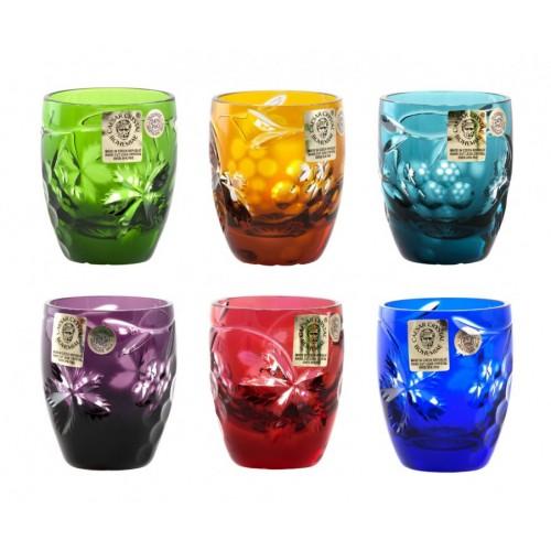 Krištáľový set pohárik Grapes, farba mix farieb, objem 50 ml