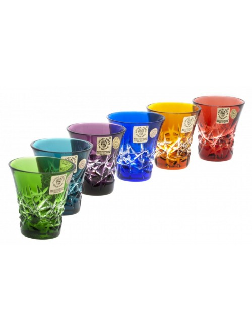 Krištáľový set pohárik Hoarfrost, farba mix farieb, objem 45 ml