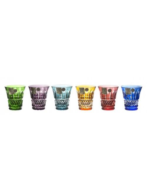 Krištáľový set pohárik Tomy, farba mix farieb, objem 45 ml