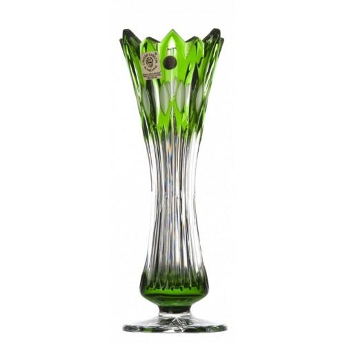 Krištáľová váza Flame I, farba zelená, výška 205 mm