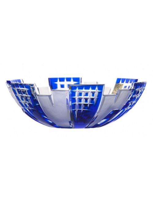 Krištáľová misa Metropolis, farba modrá, priemer 180 mm
