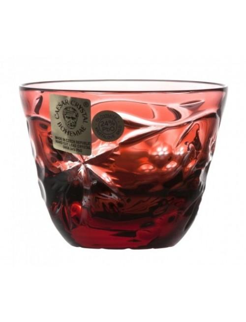 Krištáľový pohárik Grapes, farba rubín, objem 65 ml