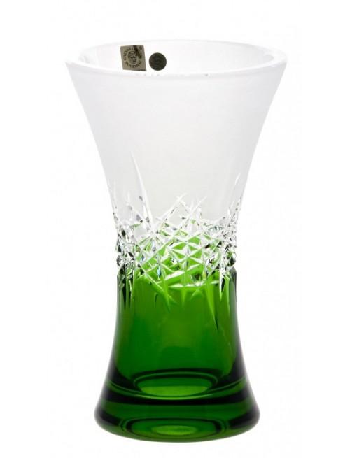 Krištáľová váza Hoarfrost, farba zelená, výška 205 mm