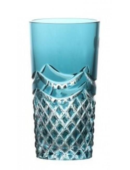 Krištáľový pohár Quadrus, farba azúrová, objem 100 ml