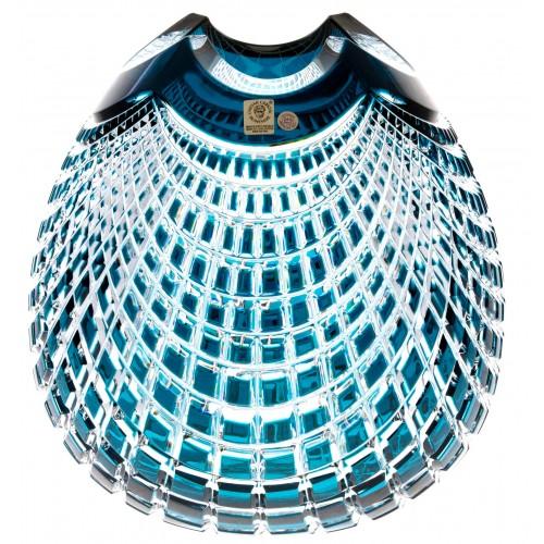 Krištáľová váza Quadrus, farba azúrová, výška 250 mm
