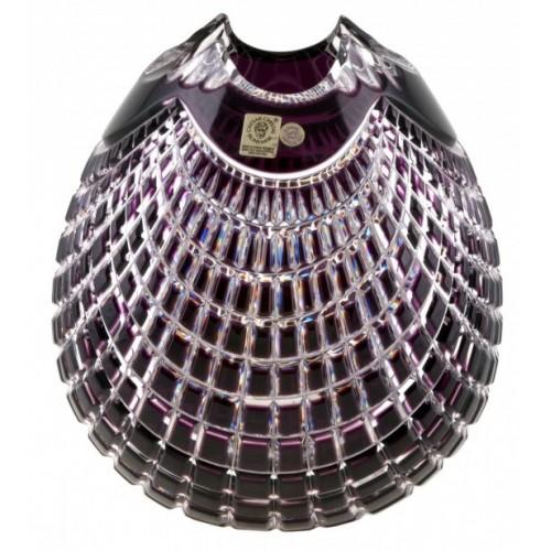 Krištáľová váza Quadrus, farba fialová, výška 135 mm